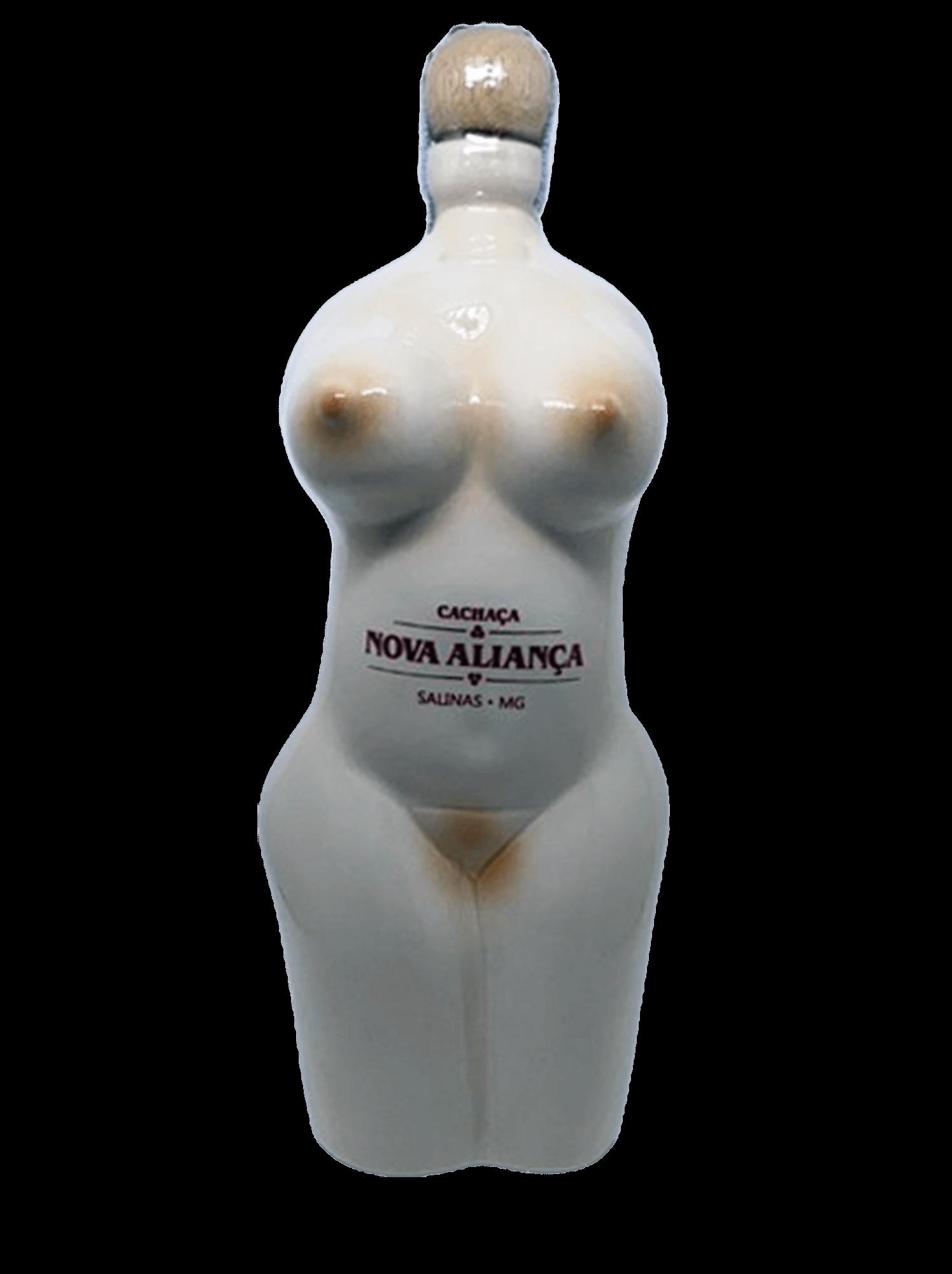 Cachaça Nova Aliança Porcelana Corpo Mulher