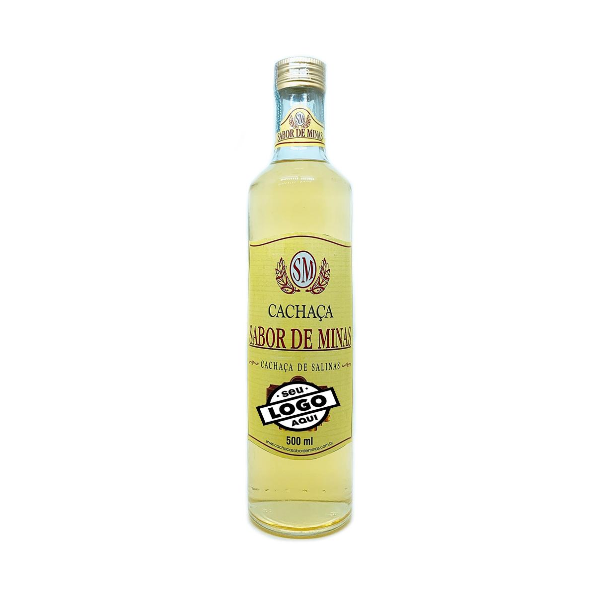Cachaça Sabor de Minas 500ml Personalizada 12 garrafas