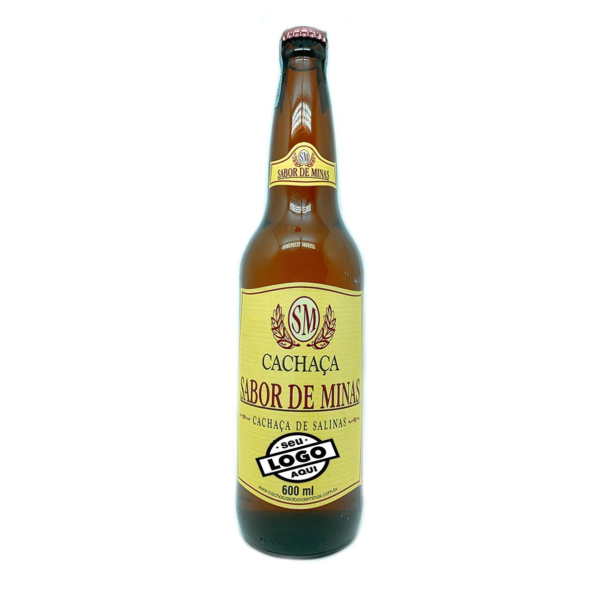 Cachaça Sabor de Minas 600ml Personalizada 12 garrafas