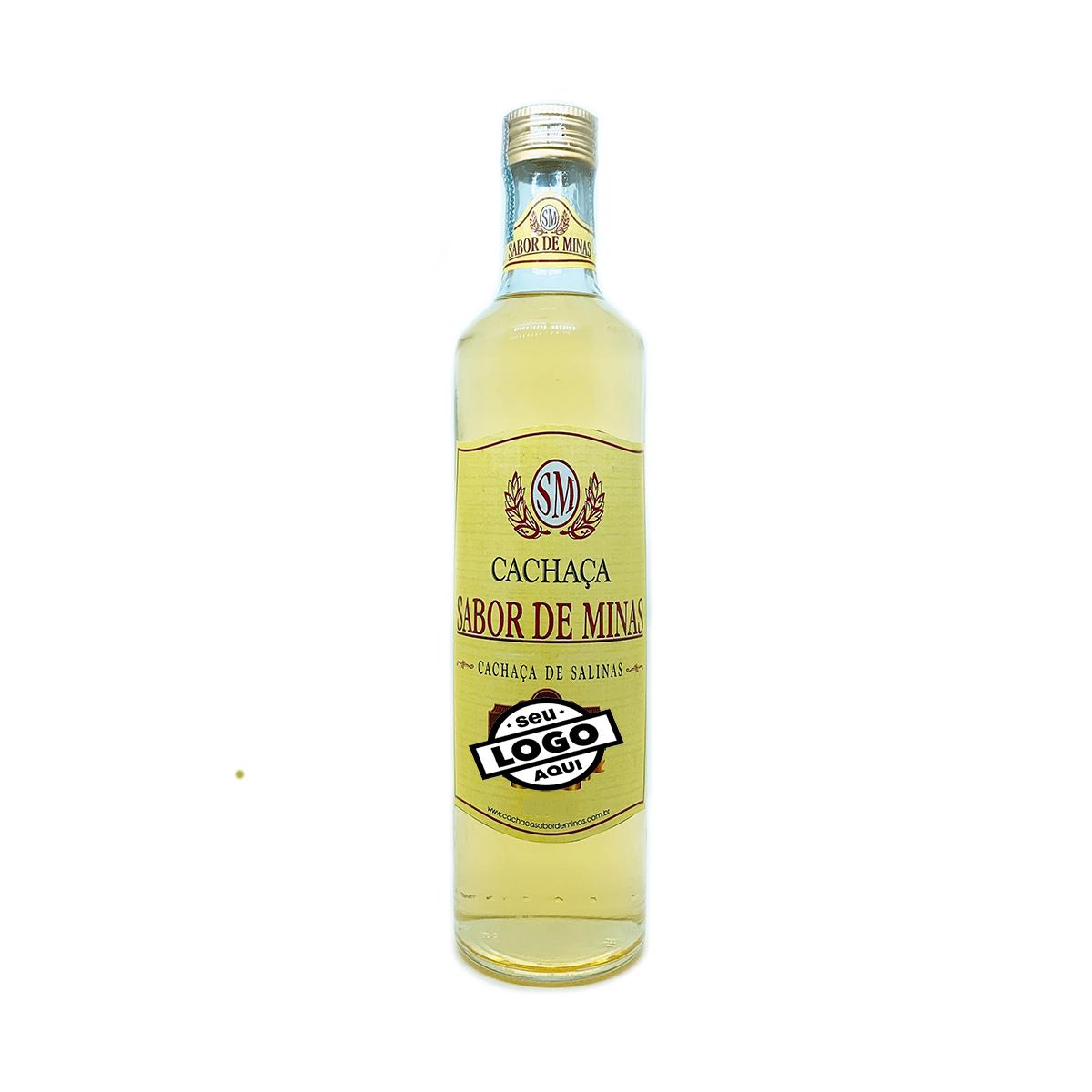 Cachaça Sabor de Minas 670ml Personalizada 12 garrafas
