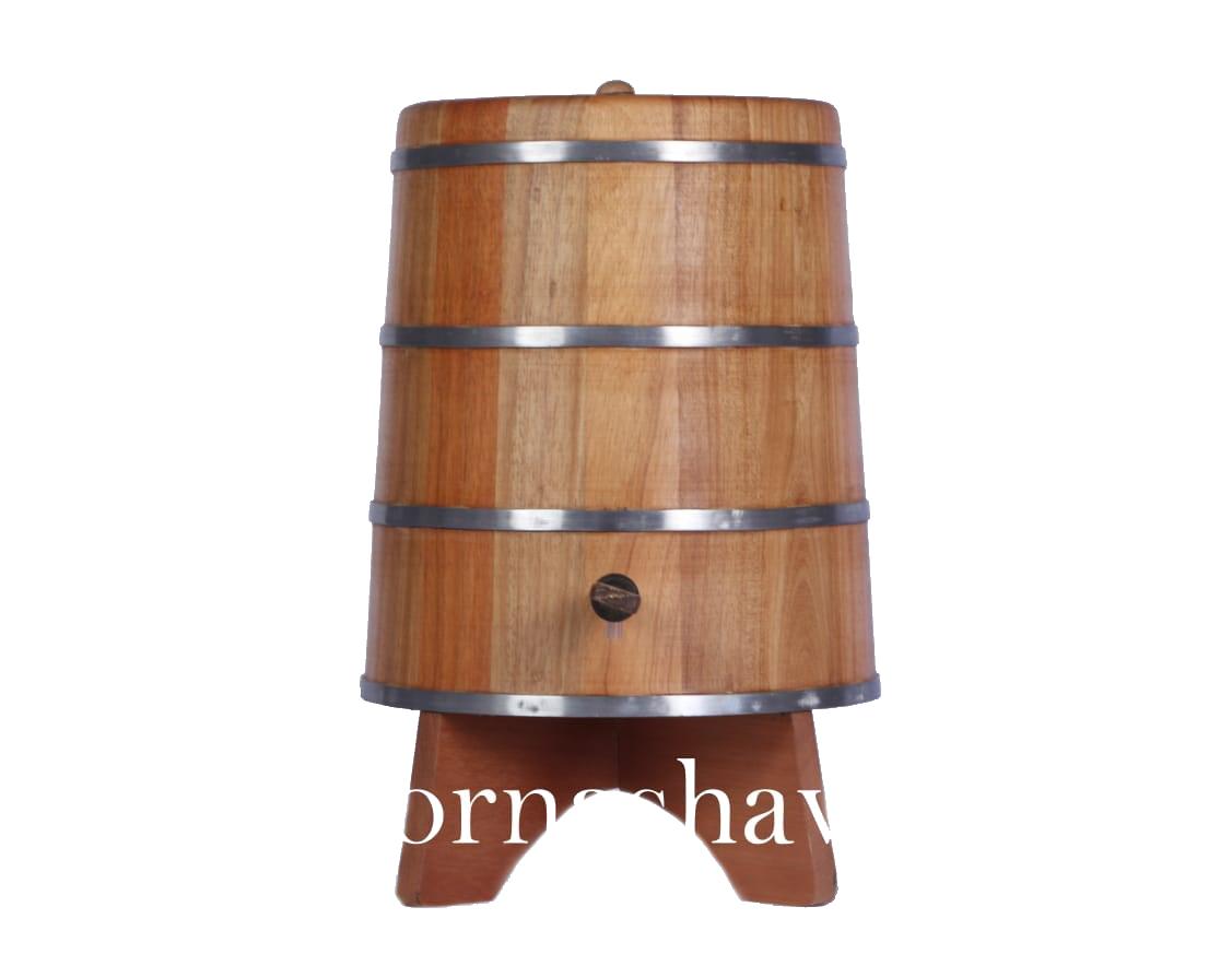 Tonel 5 litros madeira jequitibá Dornas Havana