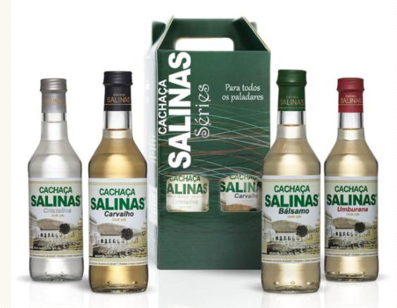 Kit 4 Garrafas Salinas Séries 350ml
