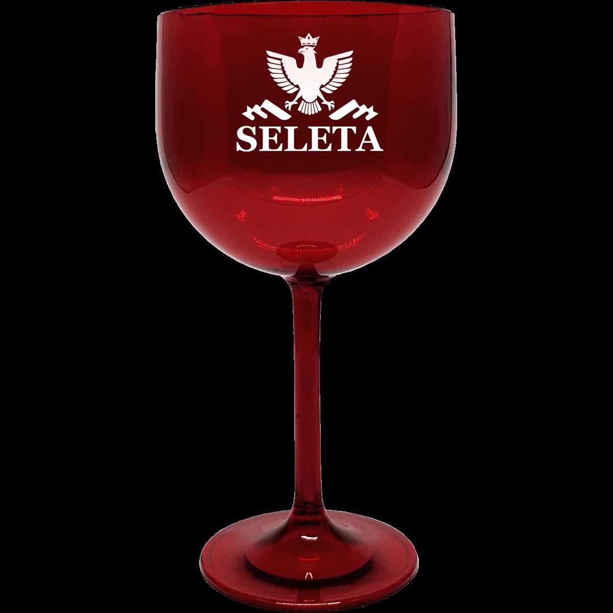 Taça Seleta personalizada vermelha