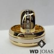 Aliança Casamento Moeda Antiga Polidas Abaulada 9mm MJM132