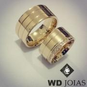 Aliança Casamento Moeda Antiga Reta Polida 10mm MJM134