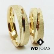 Aliança de Casamento Ouro Diamantada 7mm 17g WD8826
