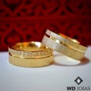 Aliança de Casamento Ouro Fosco Reta 7mm 14g WD8740