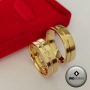 Aliança de Casamento Ouro Polida Anatômica 7mm 14g WD8759