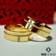 Aliança de Casamento Ouro Polida Anatômica 7mm 17g WD6834