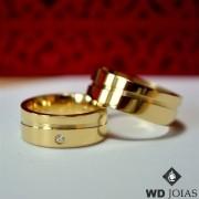 Aliança de Casamento Ouro Polida Anatômica 7mm 17g WD8744