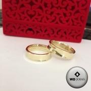 Aliança de Casamento Ouro Polida Côncava 6mm 10g WD8766