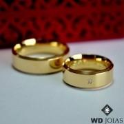 Aliança de Casamento Ouro Polida italianinha 7mm 15g MJO33