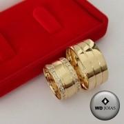 Aliança de Casamento Ouro Polida Reta 10mm 20g WD8760