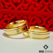 Aliança de Casamento Ouro Polida Reta 5mm 10g MJO31