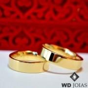 Aliança de Casamento Ouro Polida Reta 5mm 12g MJO32