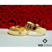 Aliança de Casamento Ouro Polida Tradicional 5mm 12g MJO29