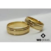 Aliança de Moeda Antiga Casamento Abaulada Fosco 8mm MJM158