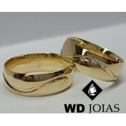 Aliança de Ouro Polida e Abaulada 7mm 16g WD9017