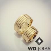 Aliança Moeda Antiga Casamento Reta Fosco 10mm MJM116