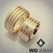Alianças Casamento Moeda Antiga Diamantada 10mm MJM73