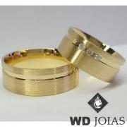 Alianças Casamento Moeda Antiga Fosca 9mm MJM31