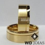 Alianças Casamento Moeda Antiga Polidas e Fosca 7mm MJM67