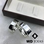 Alianças Compromisso Prata Anatômica Polidas 7mm 16g MJP72