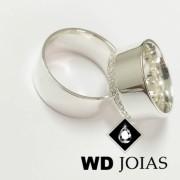 Alianças Compromisso Prata Polidas 10mm 20g MJP54