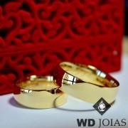 Alianças de Casamento Ouro Abaulada Polida 7mm 16g WD8746