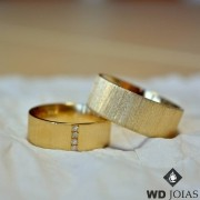 Alianças de Casamento Ouro Anatômica com 23 Gramas WD8749