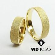 Alianças de Casamento Ouro Anatômica Diamantada 15g WD8782
