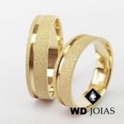 Alianças de Casamento Ouro Diamantada 7mm 15g WD8799