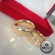 Alianças de Casamento Ouro Polida Italiana 7mm 14g WD8765