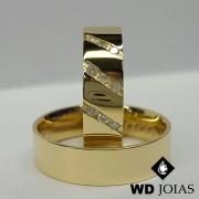 Alianças de Casamento Ouro Polidas 6mm 10g WD8844