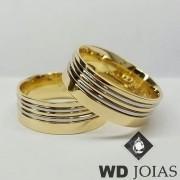 Alianças de Casamento Ouro Polidas 8mm 18g WD8840