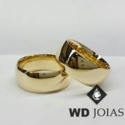 Alianças de Casamento Ouro Tradicional Polidas 18g WD8850