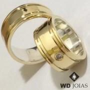 Alianças de Moeda Antiga Casamento Polida e Reta 9mm MJM150