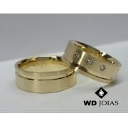 Alianças de Moeda Antiga Casamento Reta Fosco 8mm MJM159