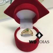 Anel de Formatura Ouro 3mm 6,5 gr MJA104