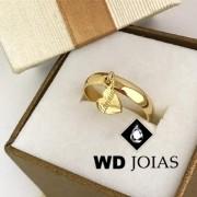 Anel de Ouro Com Pingente 4mm 5g MJA40