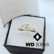 Anel de Ouro Infantil Coroa Polida 1,3g MJA41