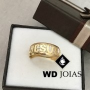 Anel de Ouro Jesus Polida 4g MJA44