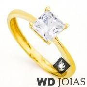 Anel Solitário Ouro Polida 1,5g MJA34