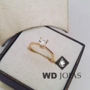 Anel Solitário Ouro Polida 2g MJA15