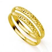 Aparador de Aliança Ouro Polida e Diamantado 2,8g MJA04