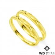 Aparador de Aliança Ouro Polida e Fosco 2,8g MJA09