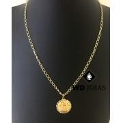 Corrente de Ouro Groumet Elo Alongado 45 cm 13gr WD8967