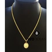 Corrente Ouro 18k Baiano Com Pingente 45 cm 5,2gr WD8892