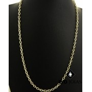 Corrente Ouro 18k Cartier Cadeado 60 cm 16gr WD8914