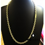 Corrente Ouro 18k Cartier Cadeado 60 cm 30gr WD8905